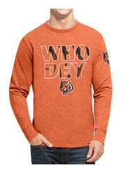 '47 Cincinnati Mens Orange Two Peat Scrum Fashion Tee