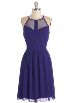 A True Vision Dress. Be true to your stellar style and sport this cobalt blue dress! #blue #modcloth