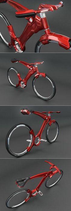 Vélo futuriste par John Villarreal Un aperçu de l'avenir et des matériaux de fabrication. On peut trouver dans ce projet une conception identique aux vélos