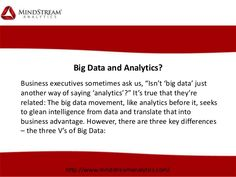 Simply put, big data open the door to monitor, measure, and know radically more about your business and directly translate that knowledge into improved decision-making and performance. Consulting Firms, Big Data, Decision Making, Monitor, Knowledge, Business, Consciousness, Statistics, Making Decisions