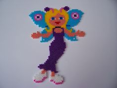 Butterfly Girl Hama mini beads by Shazann
