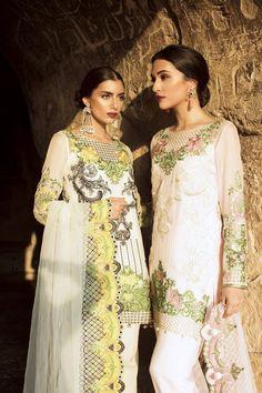 Pretty Little Weddings Saira Rizwan's debut Luxury Chiffon Collection featuring models Zara Peerzada and Sana Ansari, Summer 2016.