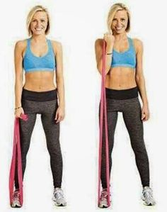 Fitness Without The Gym.: Arm Exercises with Resistance Bands. Fitness Without The Gym.: Arm Exercises with Resistance Bands. Band Workouts, Arm Workout With Bands, Gym Workouts, At Home Workouts, Resistance Band Arms, Resistance Band Exercises, Arm Exercises, Resistance Workout, Exercise Bras