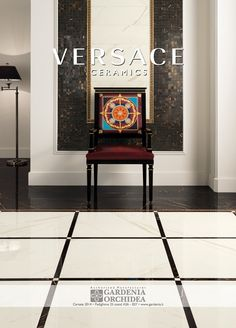 Decisive lines and a warm atmosphere. Shop the Versace marble range today. Versace Furniture, Luxury Furniture, Furniture Decor, Outside Flooring, Foyer Flooring, Luxury Interior, Decor Interior Design, Versace Tiles, Wall Trim Molding