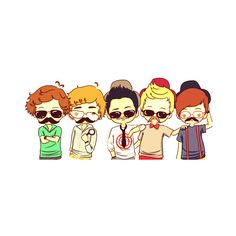 1d cartoon | Tumblr ❤ liked on Polyvore featuring one direction, 1d, drawings, fillers and pictures