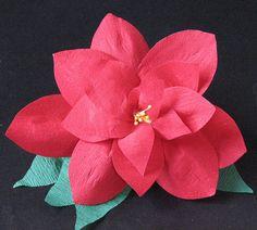 #12 - Crepe Paper Poinsettia 019 by ronijj, via Flickr