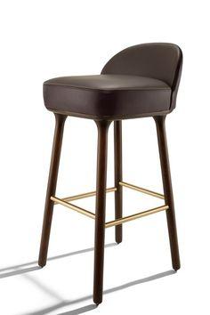Velvet bar chair velvet bar stool hospitality design - Chaises de bar pliantes ...