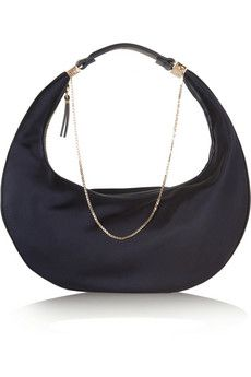 The Row Purse chain-trimmed silk shoulder bag | NET-A-PORTER