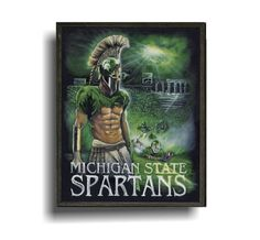 Hey, I found this really awesome Etsy listing at https://www.etsy.com/listing/199963303/msu-spartan-painting