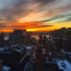 New York City sunrise #nyc