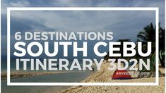 South Cebu Itinerary - 3 Days 2 Nights 6 Destinations to Some of South C. Kawasan Falls, Dive Shop, Cebu City, Tourist Spots, Beach Resorts, You Can Do, Philippines, Things To Do, Destinations