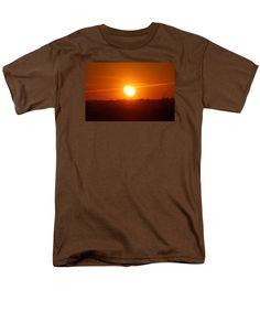 Double Sunset Men's T-Shirt (Regular Fit) featuring the photograph Double Sunset…