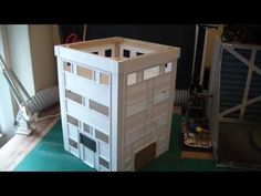 Building a scratch built city fight war gaming table step by step - Part 3. Hospital block, part C. - YouTube