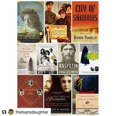 What a thrill to see THE SECRET DAUGHTER OF THE TSAR featured with so many books I admire. Many thanks to @thetsarsdaughter! #romanov #bookstagram #historicalfiction #russianhistory