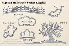 Halloween Scenes Edgelits sizes shared by Dawn Olchefske #dostamping #stampinup