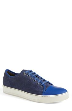 Lanvin Low Top Crackle Sneaker (Men) available at #Nordstrom