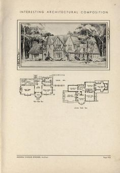 Tutor inspired home by Architect Andrew Charles Borzner.  The book of beautiful homes. by Andrew C. Borzner  Published 1932  BookReaderImages.php (607×878)