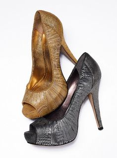 "The ultra-feminine, sexy must-have for your shoe closet. Imported leather. 5"" heel with 1/2"" platform.    $110"