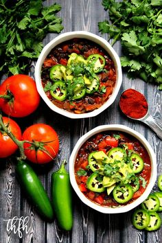 Vegan Smoked Paprika and Black Bean Chili...an easy one-pot dinner ready in less than 30 minutes and it's vegan, gluten-free and dairy-free | The Healthy Family and Home