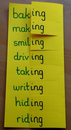 home-made-learning-aid-for-adding-ing-and-dropping-the-e-from-words