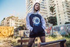 hoodie - buzo - diseño - urbanlife - fashion - design - eye - ojo - pixelart - pixel - ranglan