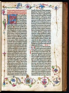 The Gutenberg Bible, also known as the 42-line Bible, the Mazarin Bible or the B42  [Osterreichische Nationalbibliothek copyright]