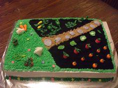 garden cake for easter