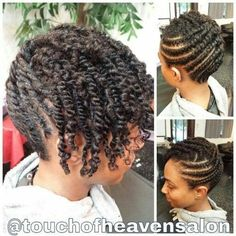 Natural Hair Updo Two Strand Twists Www Touchofheavensalon Com Versatile Hairdos For Spring Natural Hair Twists Flat Twist Twisted Updo Natural Hair Twists Natu Two Strand Twist Hairstyles, Two Strand Twist Updo, Flat Twist Updo, Braided Hairstyles, Black Hairstyles, Dreadlock Hairstyles, Wedding Hairstyles, Natural Updo Hairstyles, Hairstyles Haircuts