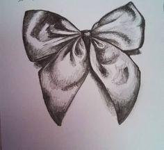Ribbon Bow Tattoo Sketch ...