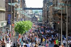 sat shopping in town. Yes its that busy all the time Glasgow Shopping, Buchanan Street, Commonwealth Games, Top Place, West End, Vintage Shops, Stuff To Do, Beautiful Places, To Go