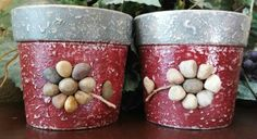 Check out this item in my Etsy shop https://www.etsy.com/listing/239251462/handpainted-terracotta-pots-set-of-2
