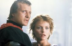 Still of Michelle Pfeiffer and Rutger Hauer in Ladyhawke (1985)