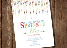 Sprinkle - Custom Baby Shower Invite