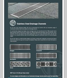 Stainless steel drain and soakaway covers
