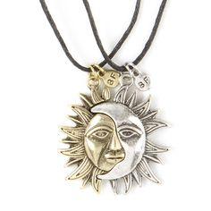 Best Friends Sun and Moon Pendant Necklaces | Claire's