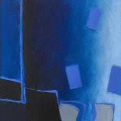 """Martyn Brewster 'Blue Coast 1"""" 2013 Oil on canvas 25x25cm"""