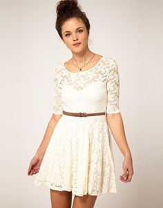 River Island / River Island Lace Skater Dress at ASOS (lace,dress)