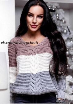 Knit This Cozy Pullover With Knitting Pullover, Sweater Knitting Patterns, Cardigan Pattern, Crochet Cardigan, Knitting Designs, Knitting Stitches, Knit Patterns, Baby Knitting, Knit Crochet