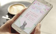 Convite Digital Chá de bebe Whatsapp  Texto Livre    ----------------------------------------------------  ATENÇÃO:  ----------------------------------------------------   Este produto não é um material impresso. O formato do produto é digital, ou seja, você recebe a arte por e-mail e imprime com...