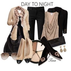Day to Night Look with Tan and Black