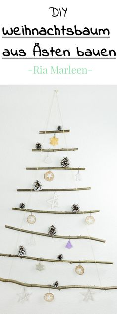 DIY Christmas tree made from tree branches - simple and cheap DIY idea for Christmas . Christmas t Sewing Machine Desk, Sewing Table, How To Make Christmas Tree, Christmas Crafts, Cheap Christmas, Winter Crafts For Kids, Sewing Blogs, Diy Weihnachten, Sewing For Beginners