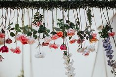 hanging floral inspiration - photo by Alexandra Wallace http://ruffledblog.com/elegant-san-luis-obispo-garden-party-wedding