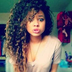 Natural curly hair, Super Cute! I want to dye my hair like this!!!!!