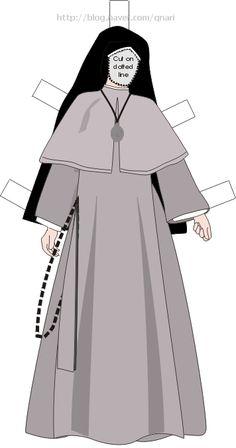 Nuns Habits, Religion, Paper Dolls, Aurora Sleeping Beauty, Dress Up, Paper Crafts, Disney Princess, Coat, Sisters