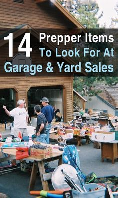 Prepping doesn't cost a lot of money when you know how to look for bargains. Garage sales are a great place to scoop up prepper items.