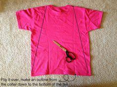 Tutus and Tea Parties: DIY Superhero Cape | T-Shirt Upcycle