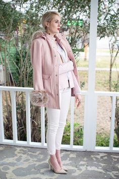 love the pink coat