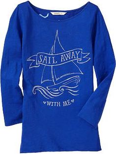 Sail Away With Me tee. Old Navy.