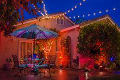 #eventlighting #backyardparty #outdoorlightingdesign #lightingdesign #stringlighting #colorwash #LEDlighting #patternwash #funlighting #layeredlighting #twinklelighting