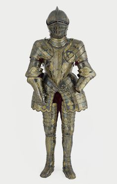 Armour garniture of Henry, future Prince of Wales, for the field, tourney, tilt and barriers: Mounted for the tourney